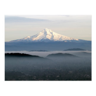 Mount Hood with Low Lying Fog Over Portland Oregon Postcard