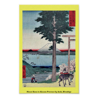 Mount Kano in Kazusa Province by Ando Hiroshige Poster