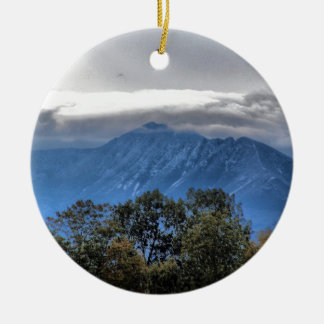 Mount Katahdin 8387a Round Ceramic Decoration