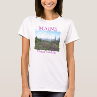 Mount Katahdin and Wildflowers T-Shirt