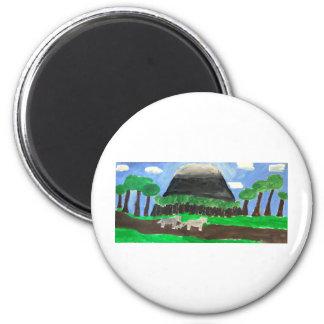 Mount Kilimanjaro 6 Cm Round Magnet