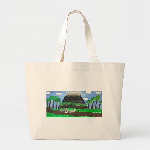 Mount Kilimanjaro Canvas Bags