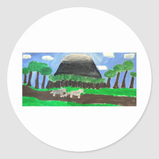 Mount Kilimanjaro Classic Round Sticker
