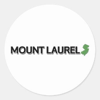 Mount Laurel New Jersey Round Stickers