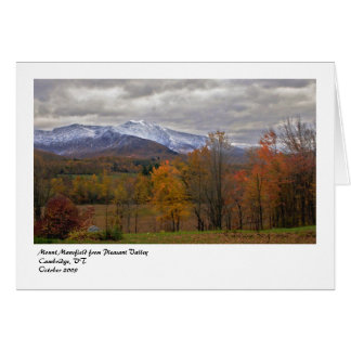 Mount Mansfield from Pleasant Vall... Note Card