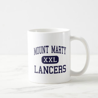 Mount Marty - Lancers - High - Cedar Rapids Iowa Basic White Mug