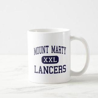 Mount Marty - Lancers - High - Cedar Rapids Iowa Basic White Mug