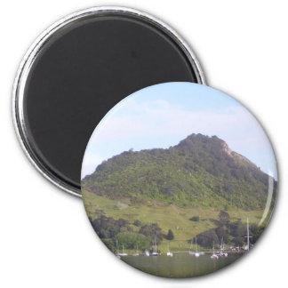 Mount Maunganui, Mauao, New Zealand Aotearoa 6 Cm Round Magnet