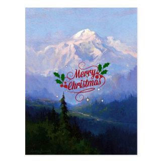 Mount McKinley, Alaska - Merry Christmas Postcard