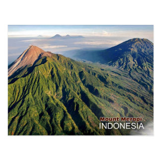 Mount Merapi Volcano in Indonesia Postcard