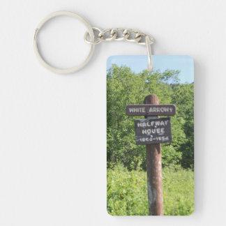 Mount Monadock Trail Signs Double-Sided Rectangular Acrylic Key Ring
