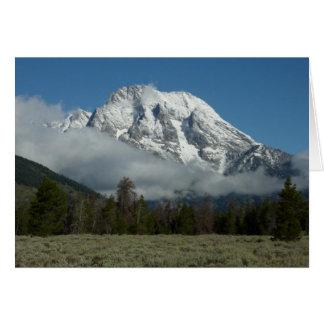 Mount Moran and Clouds at Grand Teton Note Card