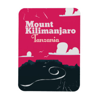 Mount Mount kilimanjaro vintage cartoon poster Rectangular Photo Magnet