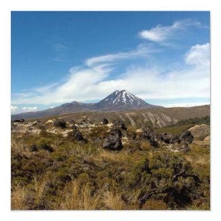 Mount Ngauruhoe & Mount Tongariro 13 Cm X 13 Cm Square Invitation Card