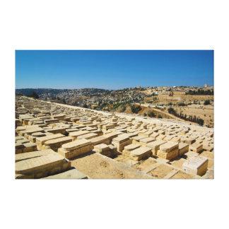 Mount of Olives Jewish Cemetery Jerusalem Israel Canvas Prints