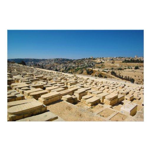 Mount of Olives Jewish Cemetery Jerusalem Israel Photograph