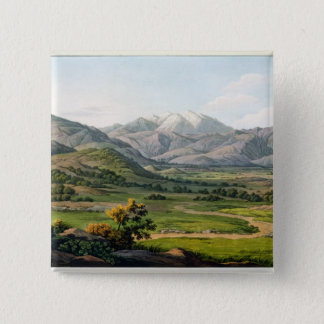 Mount Olympus, as seen between Larissa and Baba, p 15 Cm Square Badge