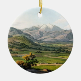 Mount Olympus, as seen between Larissa and Baba, p Round Ceramic Decoration