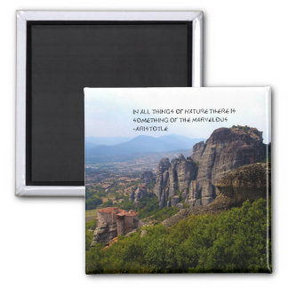 Mount Olympus Greece Monastery Aristotle Quote Magnet