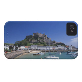 Mount Orgueil Castle and harbour, Gorey, Jersey iPhone 4 Case-Mate Cases