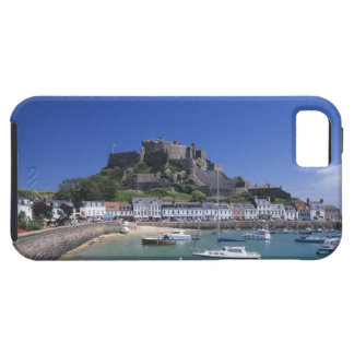 Mount Orgueil Castle and harbour, Gorey, Jersey iPhone 5 Cases