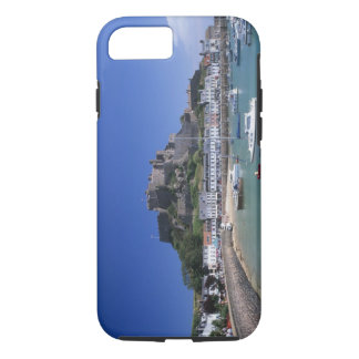 Mount Orgueil Castle and harbour, Gorey, Jersey iPhone 8/7 Case