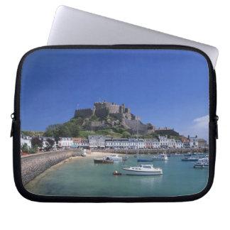 Mount Orgueil Castle and harbour, Gorey, Jersey Laptop Sleeve