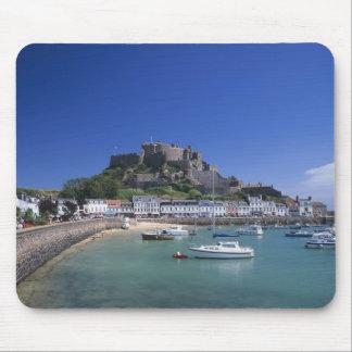 Mount Orgueil Castle and harbour, Gorey, Jersey Mouse Pad