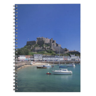 Mount Orgueil Castle and harbour, Gorey, Jersey Spiral Notebook