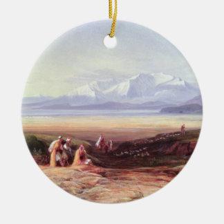 Mount Parnassus, Lake Cephissus and the Plains of Round Ceramic Decoration