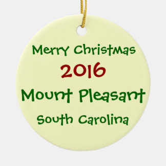 MOUNT PLEASANT SOUTH CAROLINA CHRISTMAS ORNAMENT