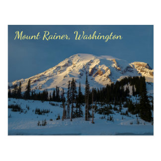 Mount Rainer evening light Postcard