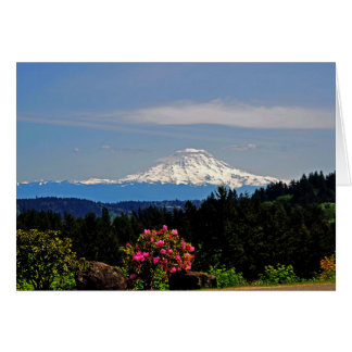 Mount Rainer Greeting Card