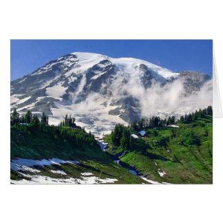 Mount Rainier Above Edith Creek Card