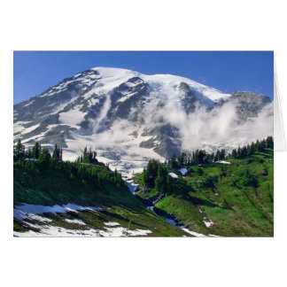 Mount Rainier Above Edith Creek Note Card