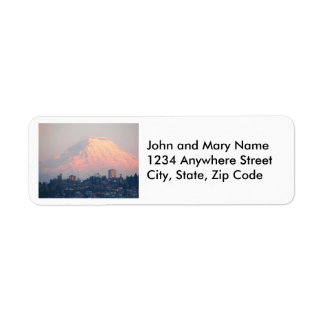 Mount Rainier Alpenglow Photo Return Address