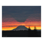 Mount Rainier and its Shadow in Large Format Photograph