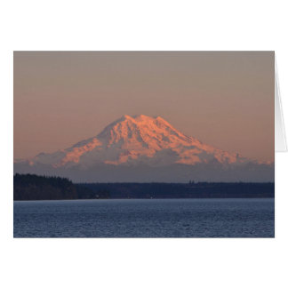 Mount Rainier and Nisqually Reach at Sunset Greeting Card