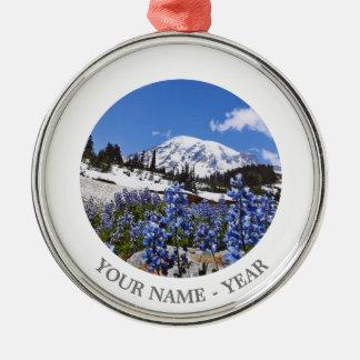 Mount Rainier at Paradise Point Christmas Ornament