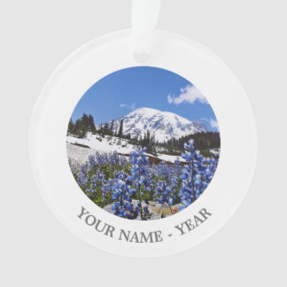 Mount Rainier at Paradise Point Ornament