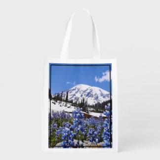 Mount Rainier at Paradise Point Reusable Grocery Bag