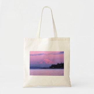 Mount Rainier at sunset Budget Tote Bag