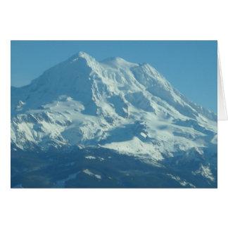 Mount Rainier Fresh Snowfall Note Card