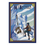 Mount Rainier - Ice Climbing - Travel Poster
