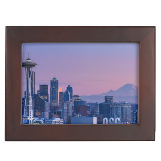 Mount Rainier in the background. Keepsake Box