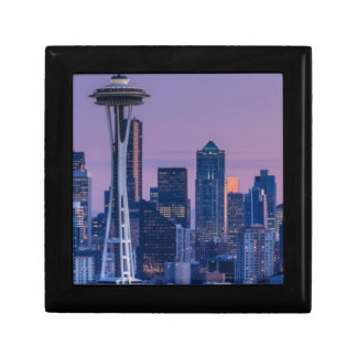 Mount Rainier in the background. Small Square Gift Box