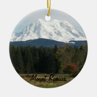 Mount Rainier Landscape Photo Ceramic Ornament
