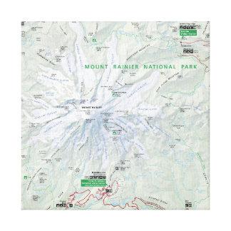 Mount Rainier map canvas print