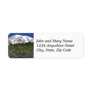 Mount Rainier Meadow Photo Return Address Labels