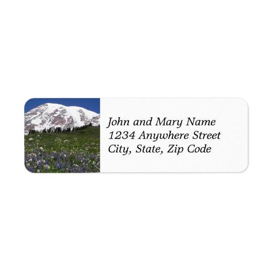 Mount Rainier Meadow Return Address Labels